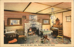Interior of Old Matt's Cabin, Shepherd of the Hills Country
