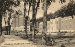The Hospital and Nurses Home, Veterans Administration Facility Postcard