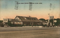 Avon Diner, Albany Turnpike Postcard
