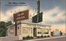 The Italian Kitchen on Route 1 at Dedham Circle, Mass.