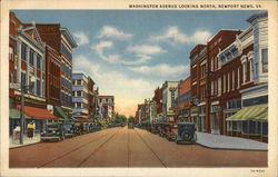 Washington Avenue Looking North Postcard