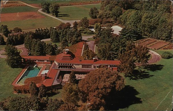 Aerial View of Wingspread Racine Wisconsin Frank Lloyd Wright