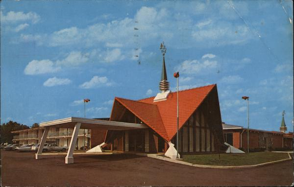 howard johnson 39 s motor lodge north richmond va postcard