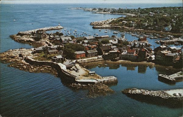 Gull's Eye View of Bearskin Neck and Rockport Harbor