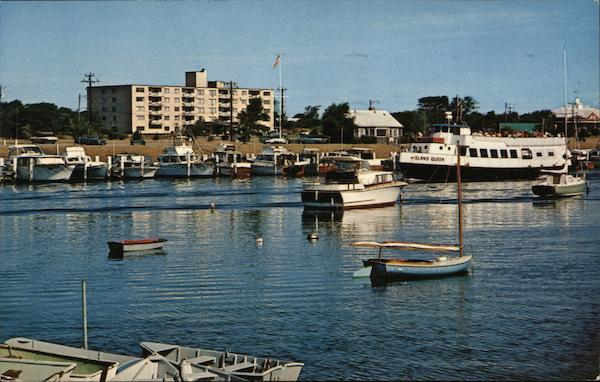 Falmouth Harbor at Falmouth Cape Cod Massachusetts