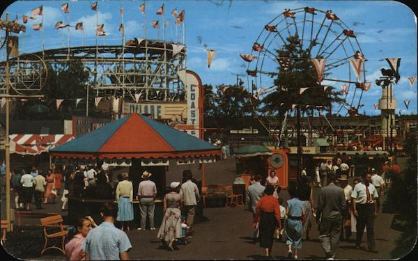 Cyclone Coaster, Ferris Wheel and Rotor Jet Ride ...
