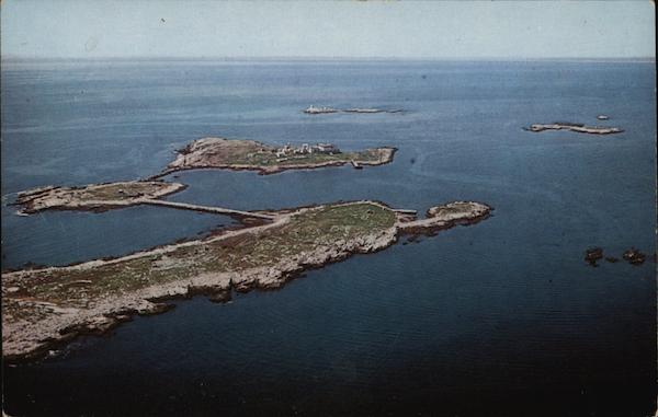 Aerial View of Islands Isles of Shoals New Hampshire