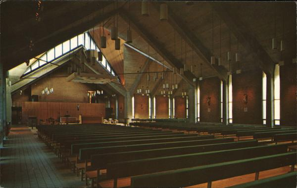 Interior View of St. Michael The Archangel Chapel Winooski Vermont