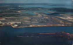 Aerial View of Logan International Airport