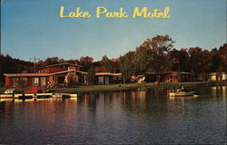 Lake Park Motel and Campground Postcard
