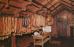Amana Meat Shop - Meats hang from the garret rafters to be aged and hickory smoked