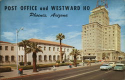 U.S. Post Office and Hotel Westward Ho Postcard