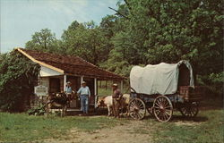Bob Evans Farms - Freed Slave Cabin Postcard