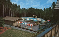 Hocking Hills Lodge - Terrace, Snack Bar & Swimming Pool Postcard