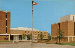 Wright State University - View of First Quadrangle - Ohio's Newest State University Postcard