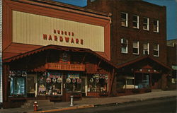 Burger Hardware and Andreas Furniture Warehouse Postcard