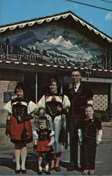Swiss Family Postcard