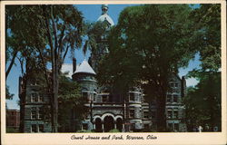 Court House and Park Postcard