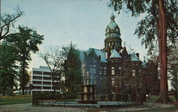 Trumbull County Court House Postcard