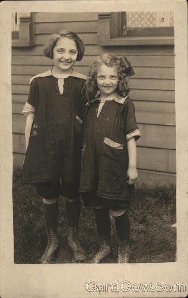 Snapshot of Two Girls Ranney Studio Children