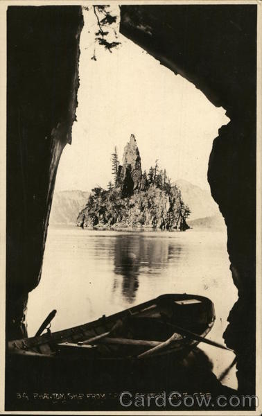 Phantom Ship Island Crater Lake National Park Oregon