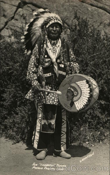 Joe Cherepee Tafoya Pueblo Indian Chief L. Knutson