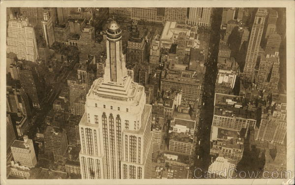 Aerial View of Empire State Observatories New York