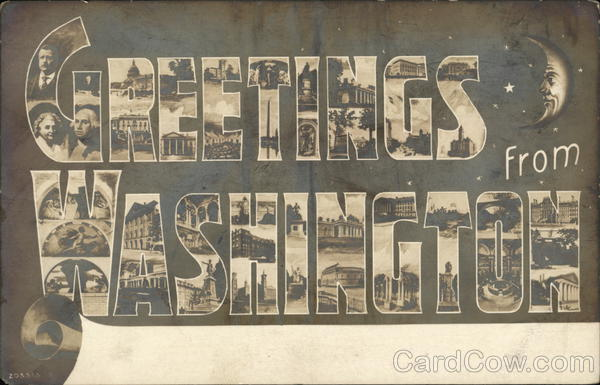 Greetings from Washington District of Columbia Large Letter