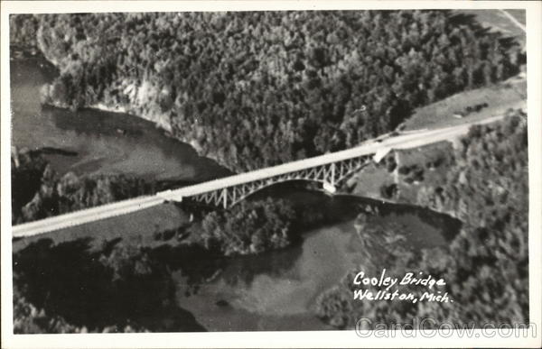 Aerial View of Cooley Bridge Wellston Michigan