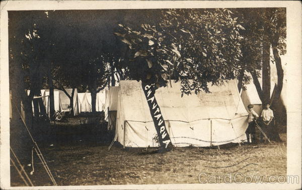 Row of Tents for Chautauqua Fairbury Nebraska
