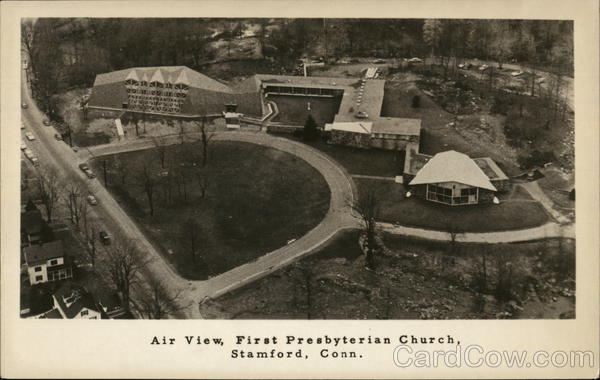 Air View of the First Presbyterian Church Stamford Connecticut