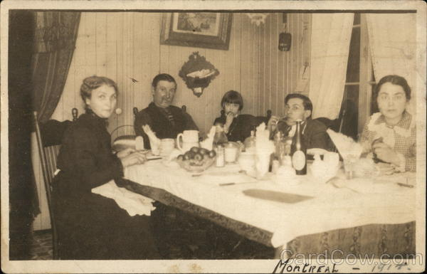 Family at Dinner Table Montreal Canada Quebec
