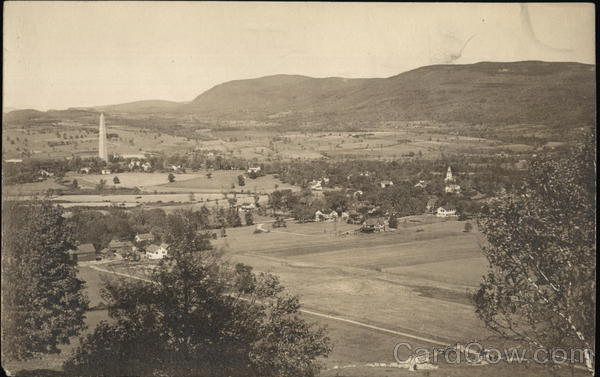 Old Bennington from Mt. Anthony Vermont
