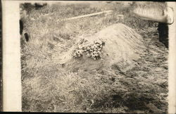 Burial Mound, Grave, With Flowers