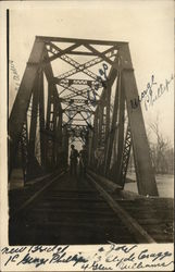 Men on New Railroad Bridge