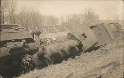 Derailed Train - Michigan November 13, 1910