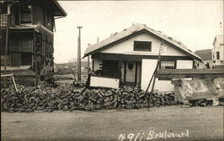 Falling Down Buildings On Boulevard Postcard