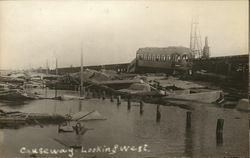Causeway Looking West During Flood Postcard