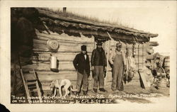 Sioux Indian Farmhouse, on the Yellowstone Trail & C. M. & St. P. R. R.