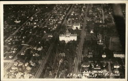 Aerial View of City showing Old Capitol Building