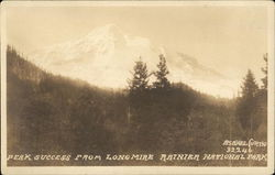 Peak Success from Longmire, Ranier National Park