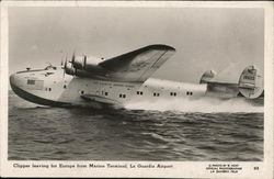 Pan Am Clipper Leaving for Europe from Marine Terminal, La Guardia Airport