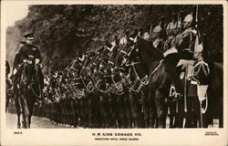 H. M. King Edward VIII - Inspecting Royal Horse Guards