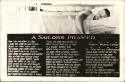"Sailor Sleeping on Bunk - ""A Sailors Prayer"""