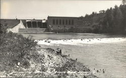 Below the Manistee River Dam