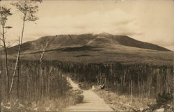 Mt. Katahdin from Pocwocamus Hill, Baxter State Park, Camp Grounds Postcard