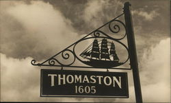 Town Sign with Sailing Ship 1605