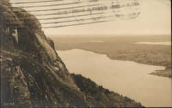 Beach Hill Cliffs, Echo Lake and Somes Sound Postcard