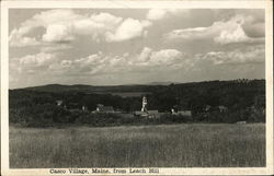 Casco Village, Maine, from Leach Hill