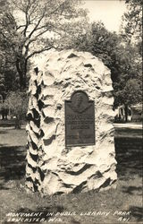 Monument in Public Library Park